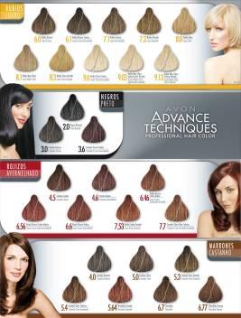 Палитра краски для волос от avon